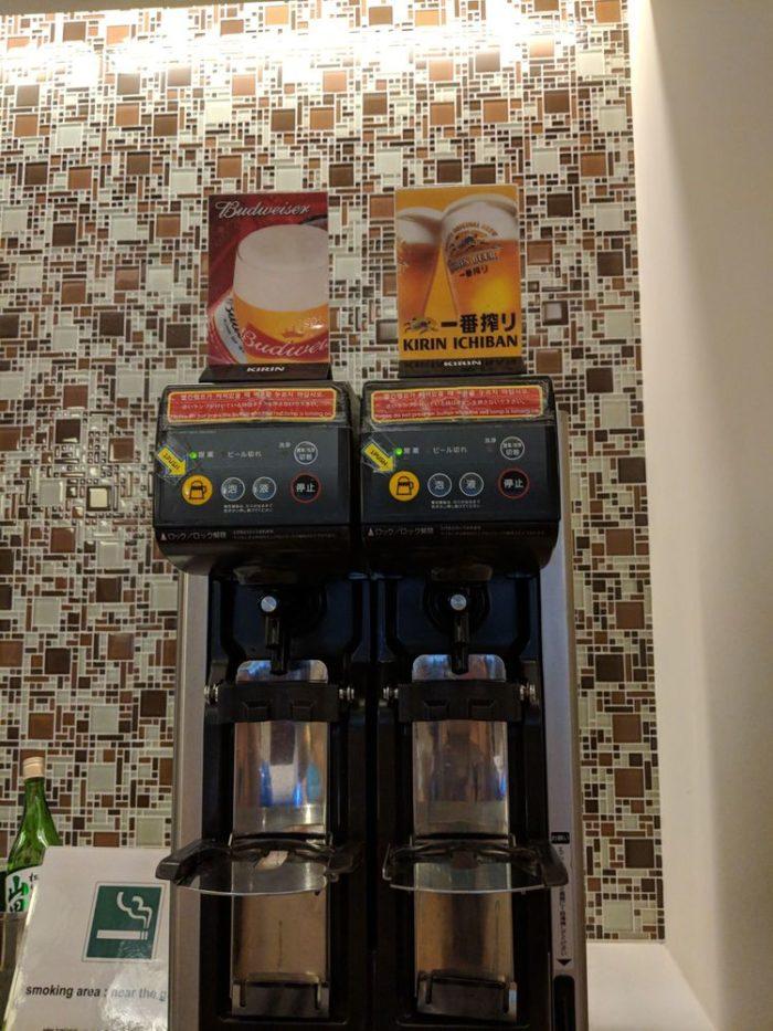 成田国際空港 KALビジネスラウンジ ビール