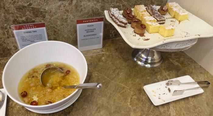 SATSプレミアラウンジ ケーキとスープ