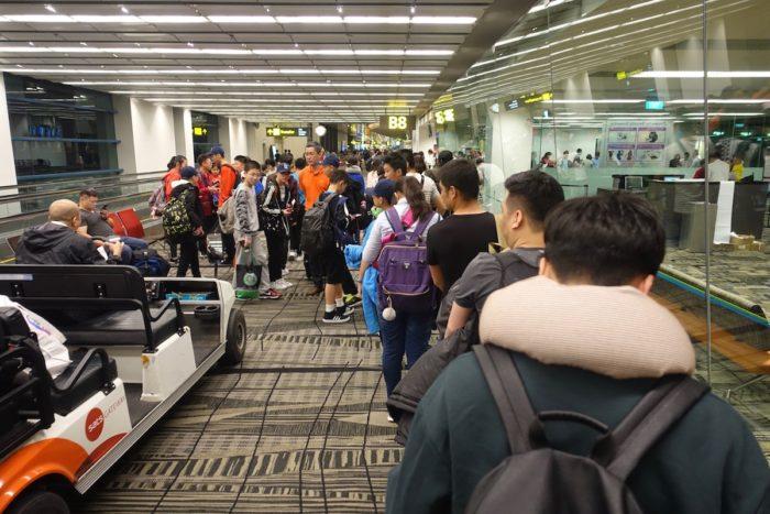 チャンギ空港セキュリティチェック