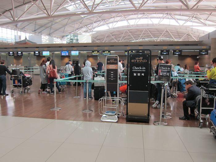 韓国ソウル 仁川国際空港 チェックインカウンター