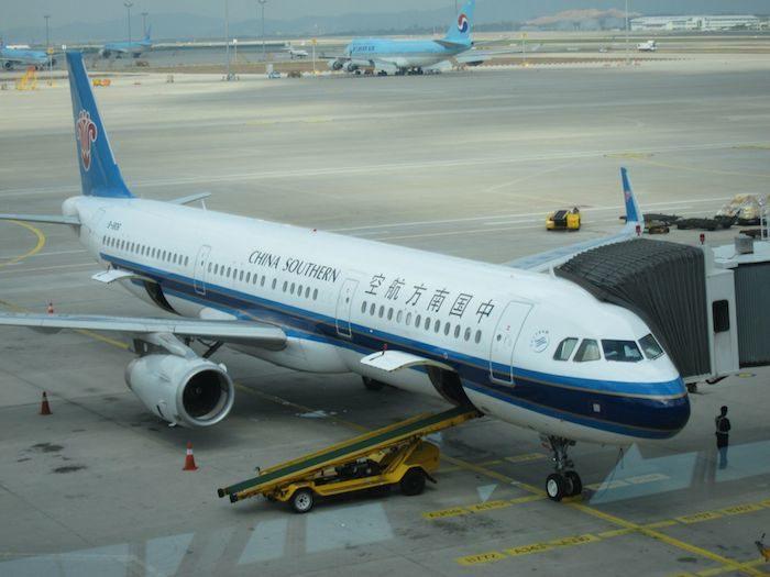 韓国ソウル 仁川国際空港 中国南方航空A321