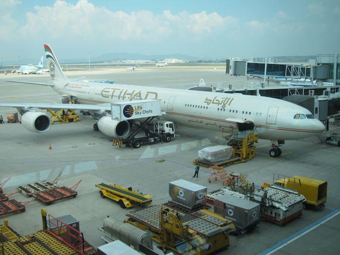 韓国ソウル 仁川国際空港 エティハド航空A340A600